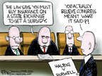 Cartoonist Chip Bok  Chip Bok's Editorial Cartoons 2014-08-01 courtroom
