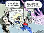 Cartoonist Chip Bok  Chip Bok's Editorial Cartoons 2014-08-21 police