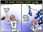 Cartoonist Chip Bok  Chip Bok's Editorial Cartoons 2014-08-23 football player