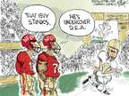 Cartoonist Chip Bok  Chip Bok's Editorial Cartoons 2014-11-19 football player