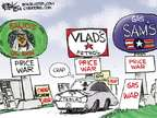 Cartoonist Chip Bok  Chip Bok's Editorial Cartoons 2014-12-17 gas price