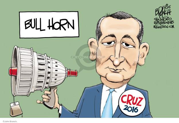 Bull horn. Cruz 2016.