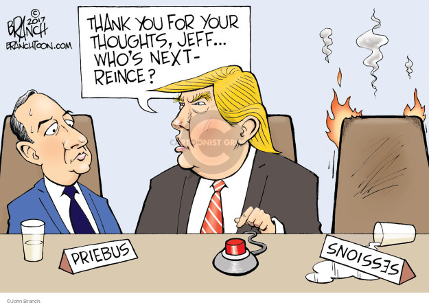 Thank you for your thoughts, Jeff … Whos next - Reince? Priebus. Sessions.