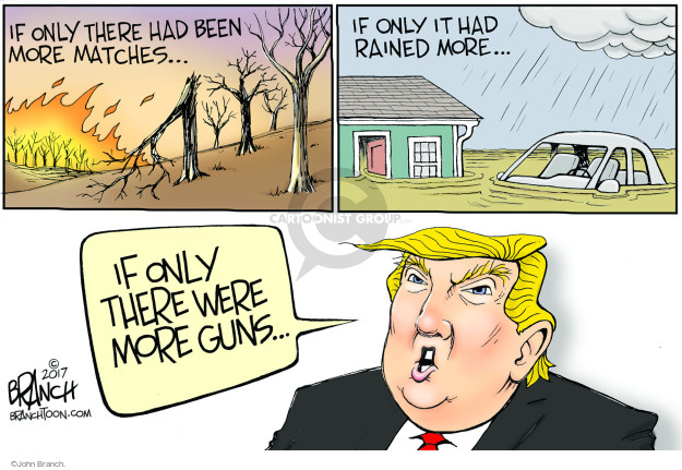 If only there had been more matches … If only it had rained more … If only there were more guns …