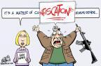 Cartoonist John Branch  John Branch's Editorial Cartoons 2013-01-16 shooting