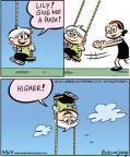 Cartoonist Jay Stephens Bob Weber, Jr.  Oh, Brother! 2011-04-06 swing