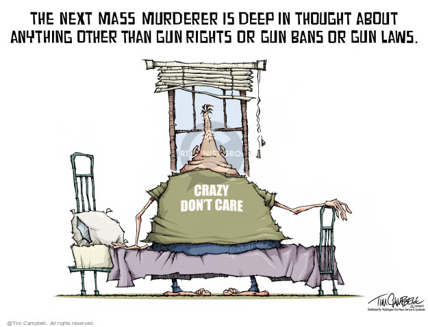 Tim Campbell  Tom Campbell Editorial Cartoons 2021-03-26 gun
