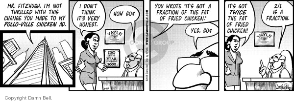 Comic Strip Darrin Bell  Candorville 2008-02-25 fast food advertising