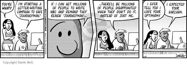 Comic Strip Darrin Bell  Candorville 2008-02-27 optimist