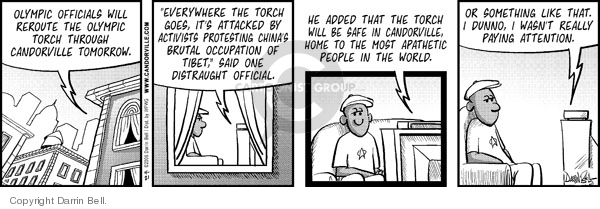 Comic Strip Darrin Bell  Candorville 2008-04-21 apathy
