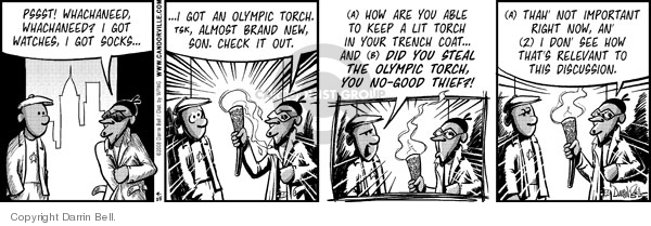 Comic Strip Darrin Bell  Candorville 2008-04-25 sock