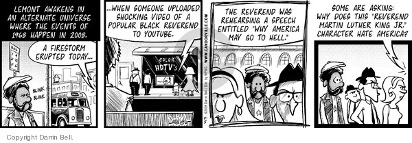 Comic Strip Darrin Bell  Candorville 2008-05-05 alternative reality