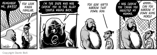 Comic Strip Darrin Bell  Candorville 2008-05-13 incident