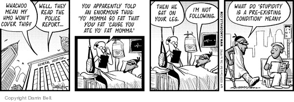 Comic Strip Darrin Bell  Candorville 2008-05-14 health insurance