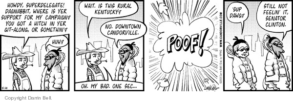 Cartoonist Darrin Bell  Candorville 2008-05-20 wait