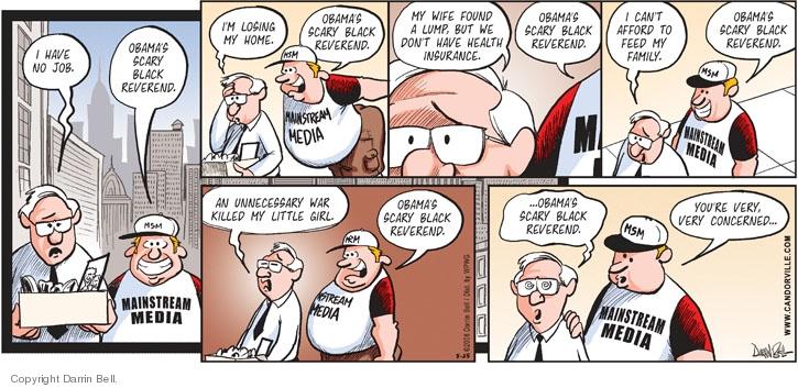 Cartoonist Darrin Bell  Candorville 2008-05-25 lost job