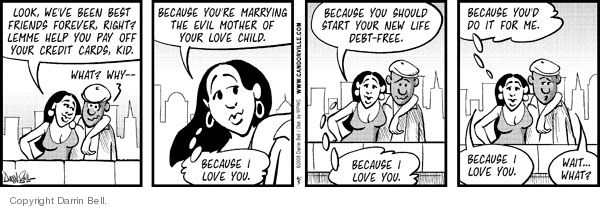 Comic Strip Darrin Bell  Candorville 2008-06-05 love