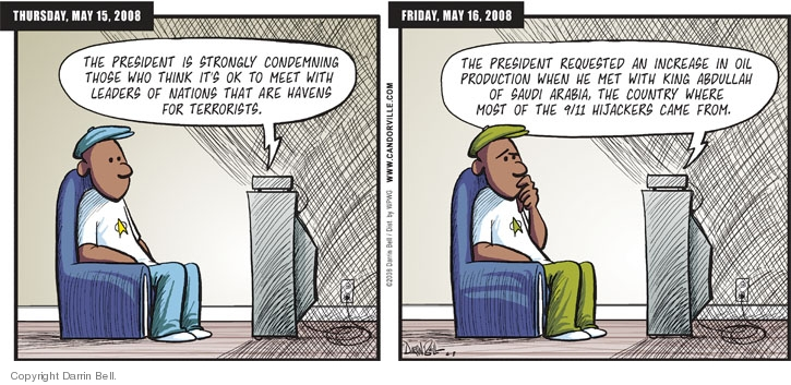Comic Strip Darrin Bell  Candorville 2008-06-08 foreign policy