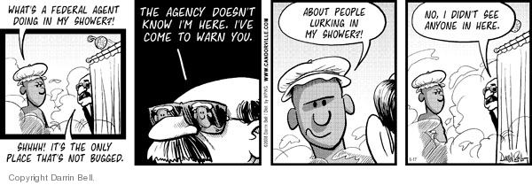 Comic Strip Darrin Bell  Candorville 2008-06-17 surveillance