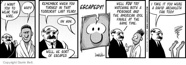 Comic Strip Darrin Bell  Candorville 2008-06-18 terrorism surveillance