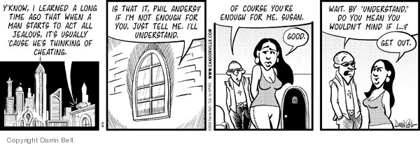 Cartoonist Darrin Bell  Candorville 2008-07-04 wait