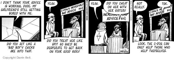 Comic Strip Darrin Bell  Candorville 2008-07-05 guidance counselor