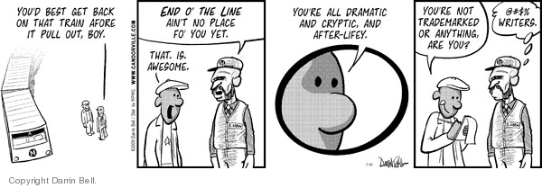 Comic Strip Darrin Bell  Candorville 2008-07-15 linguistics