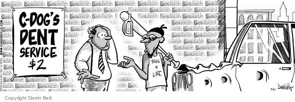 Cartoonist Darrin Bell  Candorville 2008-07-21 automobile