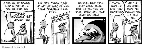 Cartoonist Darrin Bell  Candorville 2008-07-22 wait