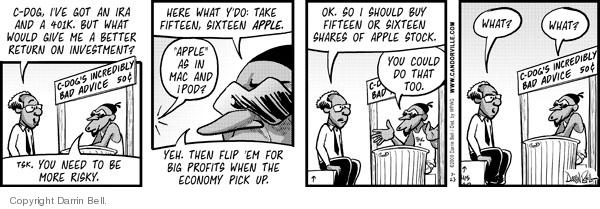 Comic Strip Darrin Bell  Candorville 2008-07-23 risk