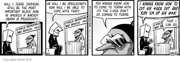 Comic Strip Darrin Bell  Candorville 2008-07-25 violent