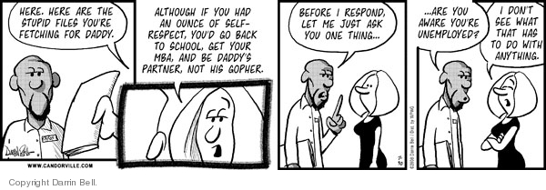 Comic Strip Darrin Bell  Candorville 2008-07-30 partner