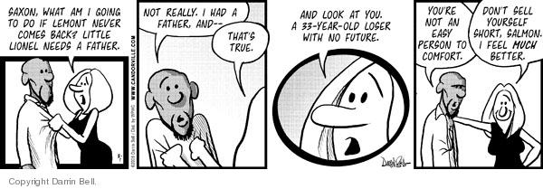Cartoonist Darrin Bell  Candorville 2008-08-01 parenting