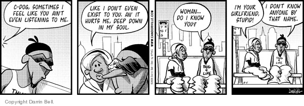 Comic Strip Darrin Bell  Candorville 2008-08-05 loneliness