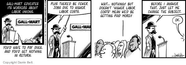 Cartoonist Darrin Bell  Candorville 2008-08-14 wait