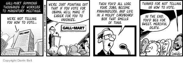 Comic Strip Darrin Bell  Candorville 2008-08-16 election