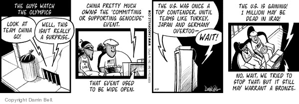 Comic Strip Darrin Bell  Candorville 2008-08-19 Iraq human rights