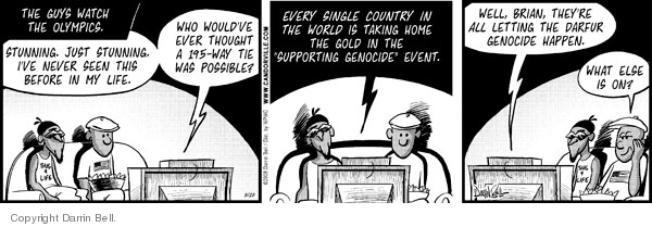 Comic Strip Darrin Bell  Candorville 2008-08-20 foreign policy