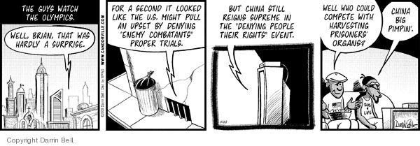 Comic Strip Darrin Bell  Candorville 2008-08-22 China