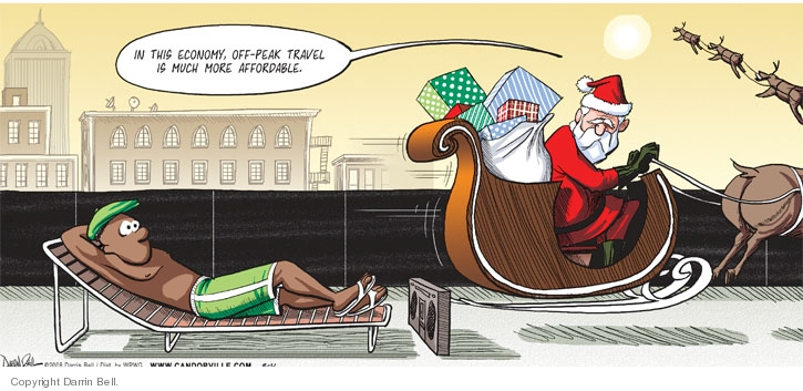 Cartoonist Darrin Bell  Candorville 2008-08-31 claus