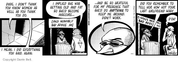 Comic Strip Darrin Bell  Candorville 2008-09-04 get old