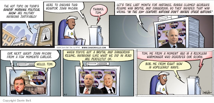 Comic Strip Darrin Bell  Candorville 2008-09-07 foreign policy