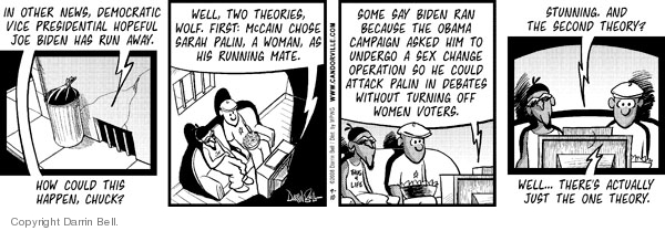 Comic Strip Darrin Bell  Candorville 2008-09-10 woman president