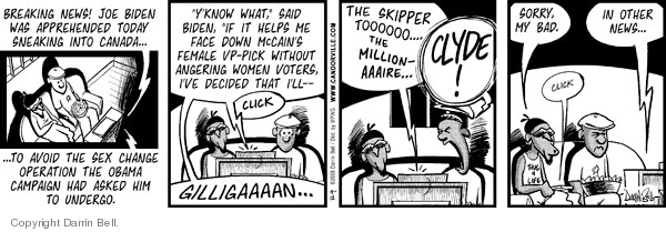 Comic Strip Darrin Bell  Candorville 2008-09-12 2008 election