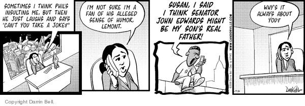 Comic Strip Darrin Bell  Candorville 2008-09-16 suspicion