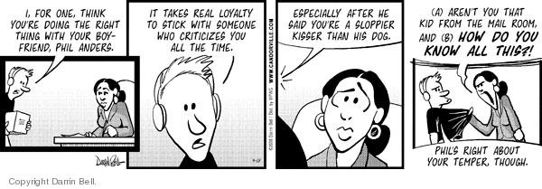 Comic Strip Darrin Bell  Candorville 2008-09-18 criticize