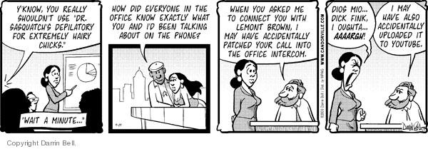 Comic Strip Darrin Bell  Candorville 2008-09-19 internet