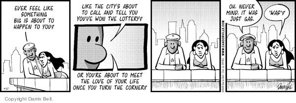 Comic Strip Darrin Bell  Candorville 2008-09-27 anticipation