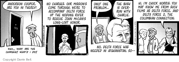 Comic Strip Darrin Bell  Candorville 2008-10-07 Lost