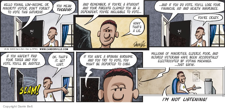 Comic Strip Darrin Bell  Candorville 2008-10-26 voting rights